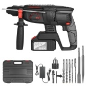 21V Brushless Heavy Duty 4 Function Rotary Hammer Drill 1 Inch SDS-plus Adjustable Grip Handle 980 RPM Cordless Drill Demolition Kit (1x4.0Ah battery)