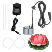 KKmoon 24V 24W Ultrasonic Mist Maker with 12 LED Lamps Mist Atomizer Aquarium Bubbler with Artificial Flower and Holder Fogger for Fish Tank Small Rockery Bonsai Accessory US Plug