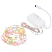 Luz de hadas Cadena de luz colorida Cadena de luces LED inteligente Cadena de luces Decoración Cadena de lámpara LED para la celebración de Navidad Año Nuevo