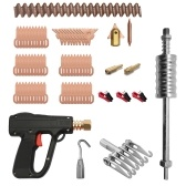 81pcs Dent Puller Kit Car Body Repairing Tools Spot Welding Electrodes Spotter Weld Machine Removing Straightenging Dents Remover Device