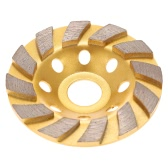 "100mm 4"" Diamond Segment Grinding Wheel Disc Bowl Shape Grinder Cup 22mm Inner Hole Concrete Granite Masonry Stone Ceramics Terrazzo Marble for Building Industry"