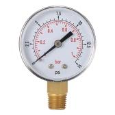 """50mm 0 ~ 15psi 0 ~ 1bar Filtr basenowy Pokrętło ciśnienia wody Hydrauliczny miernik ciśnienia Manometr 1/4 """"gwint NPT"""
