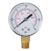 "0 50mm 0 ~ 15 psi ~ 1bar Pool Filter Wasserdruck Dial Hydraulische Manometer Meter Manometer 1/4 ""NPT Gewinde"
