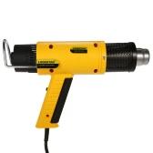 LODESTAR 1800W AC220V Chauffe-eau électrique professionnel Hot-air Blower Thermoregulator Kit de pistolet à chaleur Kit de soudure rétractable à température réglable avec une buse