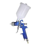 KKmoon 1.4mm Mini HVLP Air Spray Gun Touch Up Paint Sprayer 600ml Gravity Feed Airbrush Kit Auto Car Furniture Finishing Coat Painting Spraying Tool