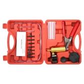 17 stücke Professionelle Auto Auto Hand Vakuum Druckpumpe Bremsentlüftungs Adapter Fluid Reservoir Tester Vakuum Bleeding Test Kits Kits 2 in 1 Werkzeug Kit Vakuum Tester