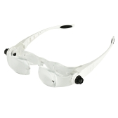 Diadema 4.0X Soporte TV Gafas Lupa Lupa Gafas Lupa con funda de teléfono Funda para gafas
