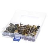 99pcs Rotary Tool Accessories Set Limpieza Lijado Pulido de cepillado Kit de accesorios de pulido con caja de almacenamiento para Dremel Grinder