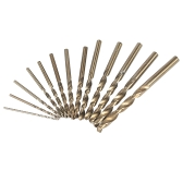 13pcs Foret HSS 4341 Super-dur Set Forets avec des tiges rondes
