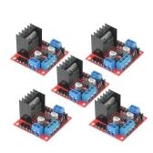 5pcs L298N Dual H Bridge DC módulo de placa de controlador de accionamiento de motor paso a paso