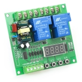 220V 2-Channel Motor Driver Shield Board 30A LED Relay Module for Arduino Raspberry Pi