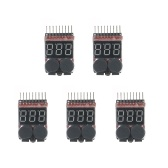5pcs RC Lipo 2 in 1 Battery Voltage Tester Battery Checker Voltmeter Low Voltage Buzzer Alarm 1s~8s Low Battery Indicator