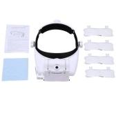8100G 3LED Luzes de Alta Definição Velho Leitura / Reparação / Artesanato Grande Angular Lens Capacete Lupa