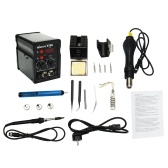 EU Digital Display Two in One Rework Station Electric Soldering Iron Hot Air Machine Thermostatic Soldering Station Set