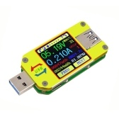 RD UM34 USB 3.0 Type- C Color LCD Display Tester Voltage Current Meter Voltmeter Ammeter Battery Charge Cable Impedance Resistance Measurement Communication Version