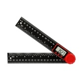 2-in-1 Electronic Digital Display Protractor Angle Finder Ruler Multifunctional 360 Degrees Inch Metric Scale Rulers