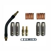 18PCS 15AK ugello conduttivo 0,8 mm + ugello + biella + gomito + chiave inglese