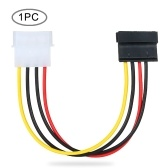 6-Inches 4-Pin Molex to 15-Pin SATA Power Connector Adapter Cable 1Pc