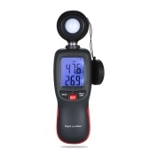 Digital Lux Meter LCD Display Handheld Illuminometer Mini Luminometer Photometer Luxmeter Light Meter 0-200000 Lux with Max/Min/Data Hold Mode