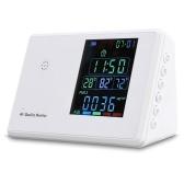 Detector de formaldehído digital Higrotermógrafo Reloj despertador Probador de dióxido de carbono Monitor de calidad del aire Analizador de gas