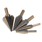 5pcs High Speed Steel 4241 Step Drill Bit Set Round Shank Twist Drills Drilling Tool
