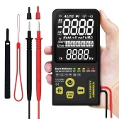 MAXRIENY ADMS9CLN Dual Mode Intelligent Automatic Digital Multimeter AC/DC Voltage Resistance Frequency Capacitance Meter Diode On-off Automatic Identification True RMS 3.5 Inch EBTN LCD 9999 Counts Display with Flashlight Function Start-up to Test