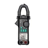 FUYI AC DC Inrush Current Clamp Meter 6000 Count Automatic Range Clamp Multimeter Temperature Testing Multifunctional Dual Display True RMS AC DC Surge Current Clamp Ammeter Clamp Gauge Black FY219