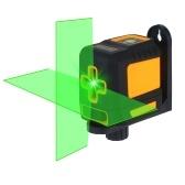 Laser Level Professional Horizontale und vertikale Querlinie Selbstnivellierer Automatische Nivellierung Wasserwaage Selbstnivellierende Querlaserlinien Einstellbare Helligkeit Grüner Strahl T04