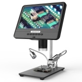 Andonstar AD208S 8.5 Inch LCD Display Screen 5X-1200X Digital Microscope 1280 * 800 Adjustable 1080P Scope Soldering Tool with Two Fill Lights