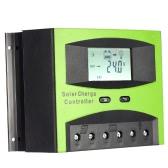 12 v/24 v 60A 太陽オフグリッド システムのソーラー充電コント ローラー PWM 充電温度補償オーバー ロード保護液晶を表示します。