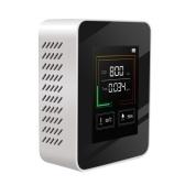 Medidor de CO2 com luz de fundo de LCD interno Detector de concentração de dióxido de carbono CO2 Testador de analisador de qualidade do ar inteligente com visor de temperatura e umidade