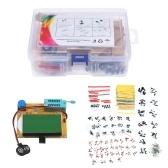KKmoon Комплект электронных компонентов Транзистор Графический тестер LCR-T4 Светодиодный диодный триод Емкость MOS / PNP / NPN Комплект резисторов TO-92 ESR-T4 Mega328 12864 ЖК-экран