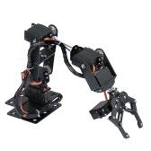KKmoon 6DOF Metal Claw Robotic Arm with Servos DIY Kit Mechanical Arm Robot Arm Robotic Clamp Claw Kit with 6pcs Servos Mechanical Arm and Gripper Robotic Arm Kit