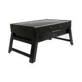 Утолщенная портативная печь для барбекю для барбекю, складная домашняя гриль, уличные печи из черной стали, подарок на открытом воздухе, компактная плита-гриль