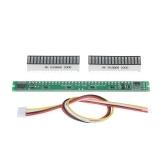 KKmoon 32 индикатор уровня VU Meter измеритель уровня звука стерео усилитель Регулируемый модуль платы скорости света с режимом AGC