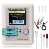 Полноцветный экран с графическим дисплеем Многофункциональный тестер транзисторов NPN-транзистор N-канальный P-канальный FET Сопротивление диода Индуктивность Емкость SCR Аккумулятор Автоматический детектор измерения