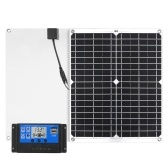 26W 12Vソーラーパネルキット、USBポートオフグリッド太陽光発電充電システム単結晶モジュール、LCDリモートコントローラー付き