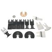 KKmoon 15pcs Mezcle el kit de la lámina oscilante del kit de herramientas múltiples para las herramientas de Dremel Fein Multimaster Makita Bosch Rockwell Sonicrafter Worx Multitool Accesorio