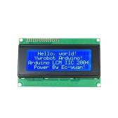 Módulo de exibição LCD2004 com 4 linhas * Módulo de exibição LCD de 20 caracteres com luz de fundo azul para Arduino