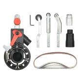 Adattatore per levigatrice con levigatrice a nastro per un convertitore elettrico per smerigliatrici angolari da 100 mm