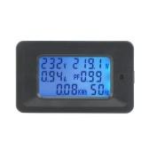 100A Numérique Tension Mètre Compteur D'énergie LCD 5KW Facteur de Puissance Énergie Fréquencemètres Voltmètre Ampèremètre Ampèremètre Watt Meter Testeur Détecteur Indicateur