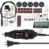 180W Handheld Electric Набор инструментов для шлифования Мини-портативный роторный шлифовальный станок Универсальный шлифовальный станок для шлифовки для шлифовальных машин Набор инструментов для гравировки с принадлежностями Комплекты DIY 220V