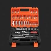 53pcs Multifunktionale Professionelle Stahl Steckschlüssel-Werkzeug-Set