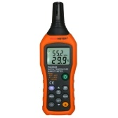 PEAKMETER Digital Temperature and Humidity Meter LCD Thermo-Hygrometer Mini Thermometer Hygrometer Psychrometer Wet Bulb Dew Point Temperature Detector with Max/Min/Data Hold Mode