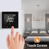 WIFIスマートサーモスタットプログラム可能な水床暖房温度コントローラータッチスクリーンカラーディスプレイ、アプリリモートコントロール付き
