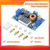 Регулируемый понижающий модуль XL4015 5A 75W Высокая конверсионная эффективность Регулируемый автоматический преобразователь с цифровым дисплеем