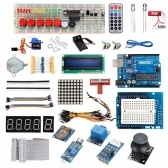 UNO Starter Kit für Ar-duino 1602LCD Servo Ultraschall Motor LED Relais RTC Kompatibel mit Ar-duino