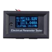 OLED multi-funcional 7-em-1 elétrica parâmetro medidor atual tempo energia energia temperatura capacidade medidor de tensão