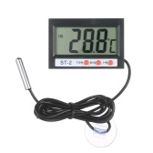 LCD Digital Aquarium Thermometer Terrarium Thermometer Fish Tank Temperature Gauge Temperature Monitor with Probe Button Cell Tape Suction Cup for Refrigerator Freezer Reptile Lab Room Car Camper