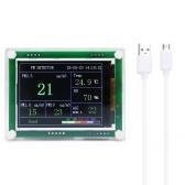 Pantalla digital LED de alta precisión para uso en el hogar Mini detector PM2.5 portátil USB Probador de aire láser multifuncional